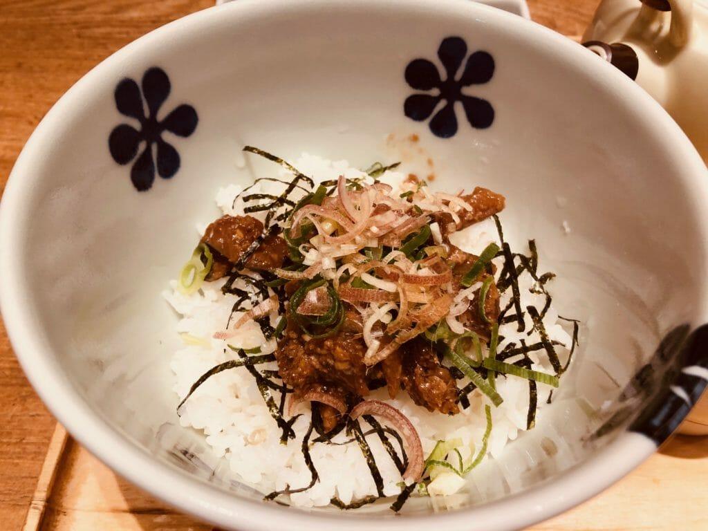 だし茶漬け えんの「長崎沖産 真鯖の胡麻醤油こうじだし茶漬け」