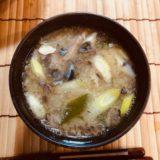 サバ缶のアラ汁風味噌汁