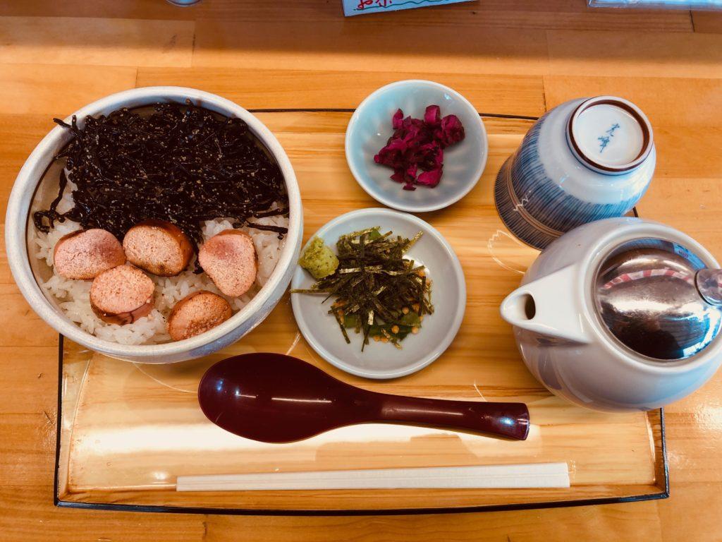 田所食品@築地の「焼きたらこときくらげのだし茶漬け」