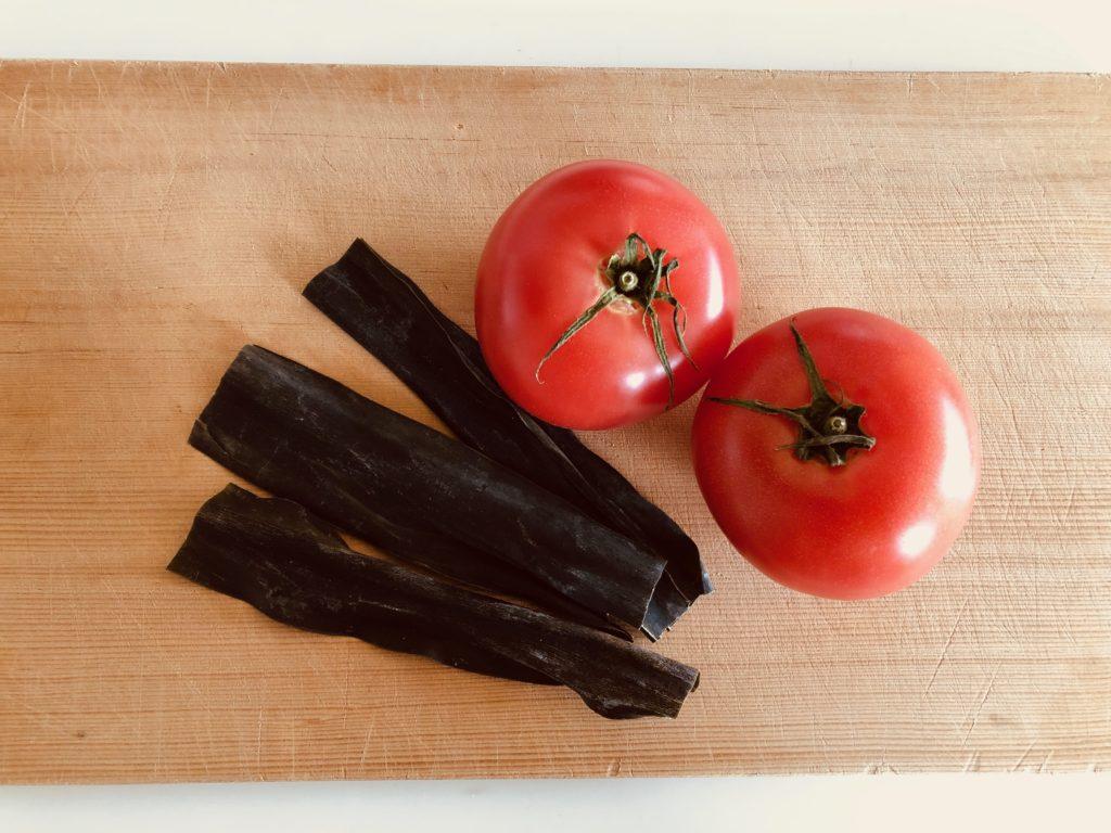 昆布とトマト