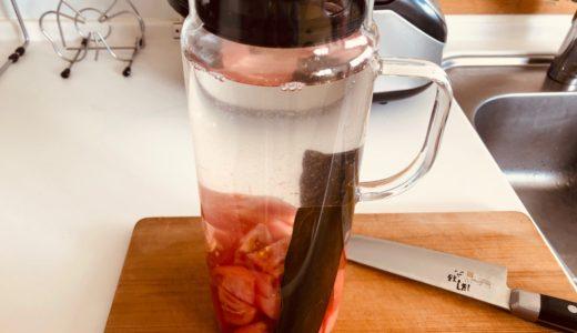 昆布とトマトで水出汁を作ってみた
