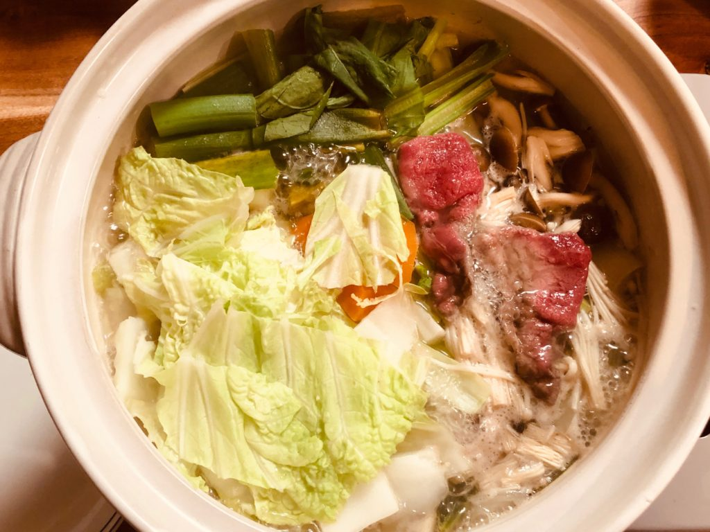牛肉のしゃぶしゃぶ鍋